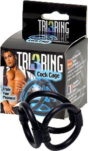 Tri 3 Ring Cock Cage by Seven Creations