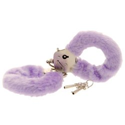 Toy Joy Furry Fun Hand Cuffs Purple Plush by Toy Joy Sex Toys