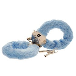 Toy Joy Furry Fun Hand Cuffs Pale Blue Plush by Toy Joy Sex Toys