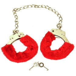 Red Furry Ankle Cuffs by Various Toy Brands