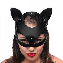 Master Series Bad Kitten Leather Cat Mask by Master Series