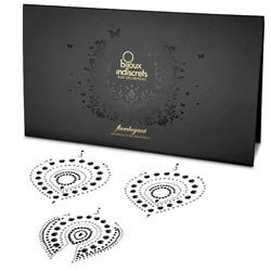 Bijoux Indscrets Flamboyant Body Jewelery Black And Silver by Bijoux Indiscrets