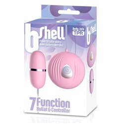 The BShell 7 Function Bullet Vibe Pink by Various Toy Brands