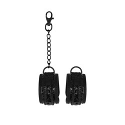 Ouch Luxury Black Hand Cuffs by Shots Toys