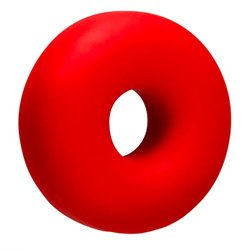 OxBalls Big Ox Super Mega Stretch Silicone Cock Ring Red by OXBALLS