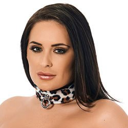 Animal Print Leather Collar by Rimba