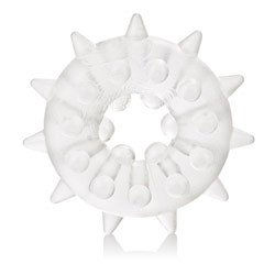 Sexagon Enhancer 2 Clear Cock Ring by California Exotic