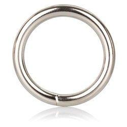 Medium Silver Cock Ring by California Exotic