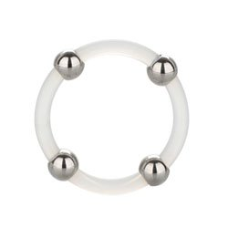 Steel Beaded Silicone Ring Large by California Exotic