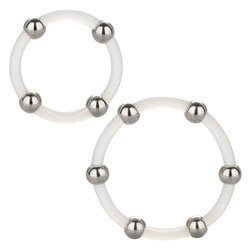 Steel Beaded Silicone Ring Set by California Exotic