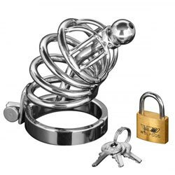 Asylum 4 Ring Locking Chastity Cage by Master Series