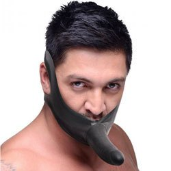Face Strap On and Mouth Gag by Master Series