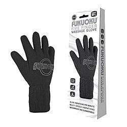 Fukuoku Vibrating Five Finger Massage Glove  Right Hand by Finger Fitting Products