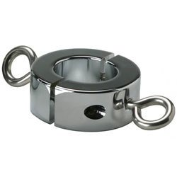 Ball Stretcher Cockring With Hooks 16oz by Kink Industries
