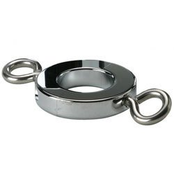Ball Stretcher Cockring With Hooks 8oz by Kink Industries