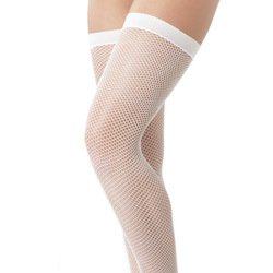 White Fishnet Stockings by Rimba