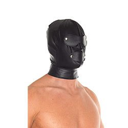 Leather Full Face Mask With Detachable Blinkers by Rimba