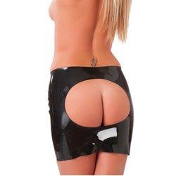 Rubber Secrets Open Back Mini Skirt by Rimba